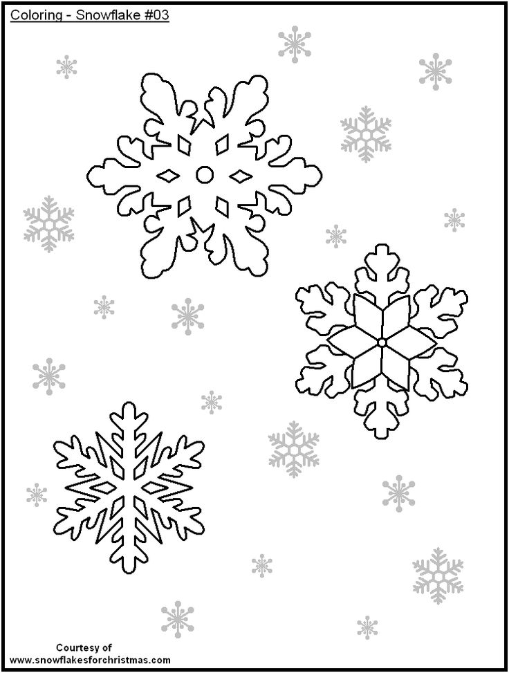 free snowflake coloring pages printable - photo#33