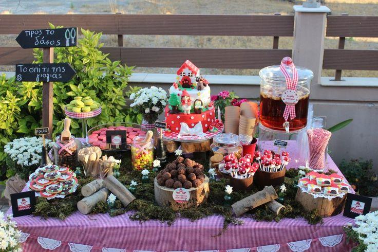 #Littleredridinghood #BirthdayParty #Candytable #GoldenAppleWeddings