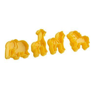 fondant cake diy decorazione stantuffo taglierina strumenti elefante leone giraffa tema cavallo (per 4) – EUR € 6.43