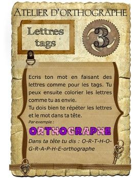 Atelier d'orthographe 3