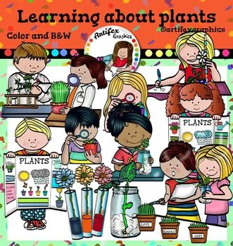 Learning About Plants clip art.  Color and B&W*50% off for the first 48 hours*This set is available to purchase as part of the   Gardening clip art BundleLearning About Plants set features 24 items: 13 clip arts in color. 11 clip arts in black & white.All images are 300 dpi, Png files.This clipart license allows for personal, educational, and commercial small business use.