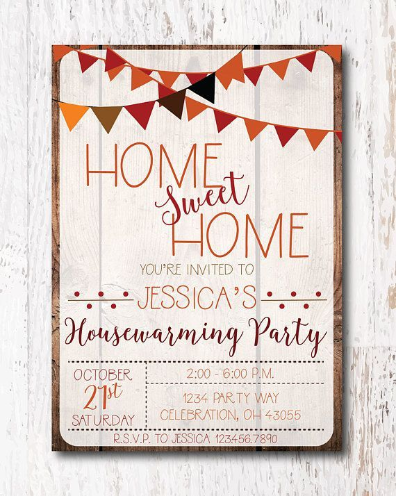 Fall Housewarming Party Invitation  #housewarmingparty #housewarminginvitation #housewarminginvitations #housewarming #newhomeinvitations #woodlawndesign