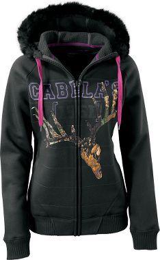 Cabela's Women's Big Game Hoodie. My Cabelas wishlist is huge.