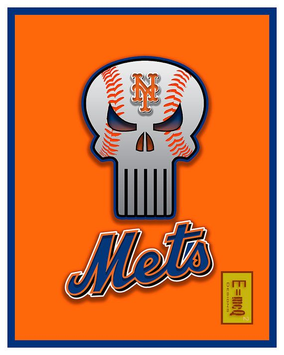 New York Mets Art New York Mets Poster New York Mets by McQDesign