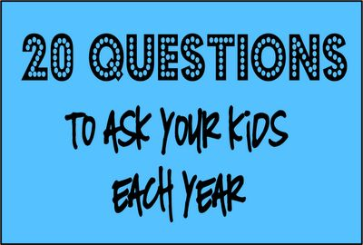 20 Questions to Ask Your Kids Each Year then scrapbook the answers around a picture!!