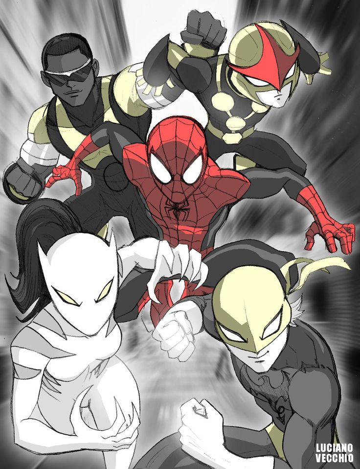 1Ultimate Spider-Man and Friends by LucianoVecchio.deviantart.com on @deviantART