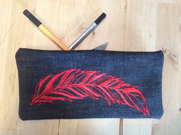 Embroidery Pencil case #dawanda #handmade #back to school #pencil case