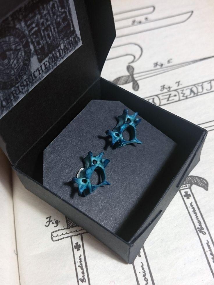 real bone ear stud earrings . more jewelry on www.etsy.com/uk/shop/chrisrichfordart