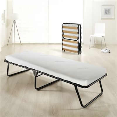 the jaybe essential folding bed is a portable folding guest bed which offers real bed comfort with maximum convenience the essential will slide away under