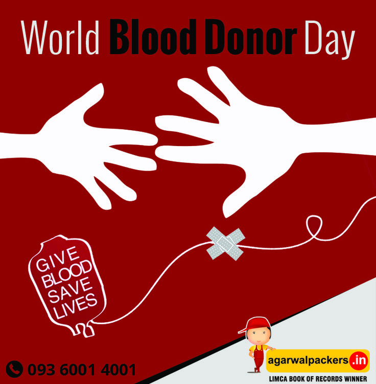 To celebrate World Blood Donor Day today we'd like to thank all of our precious donors for giving blood. Happy #WorldBloodDonorDay!  #SafeRelocation #Household #Transportation #Relocation #Shifting #Packers #Movers #Agarwal #Residential #Offering #Householdpackers #Bangalore #Delhi #Mumbai #pune #hyderabad #Gurgaon #india
