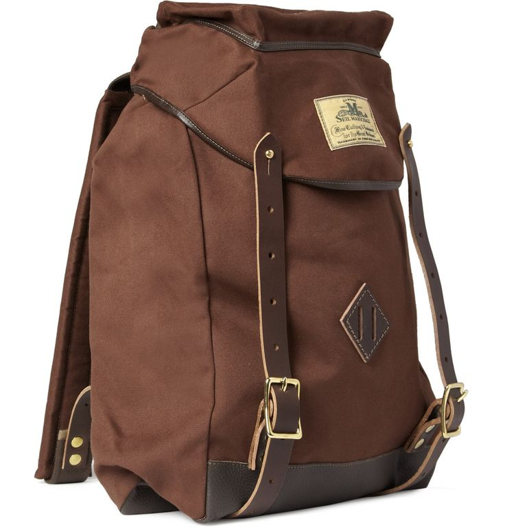 Chocolate brown large canvas backpack from Seil Marschall