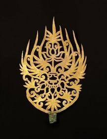 Gold Crown Ornament Culture / Period -- Baekje Kingdom (6th century) Provenance -- Gongju-si (Geumseong-dong, Royal Tomb of King Muryeong).