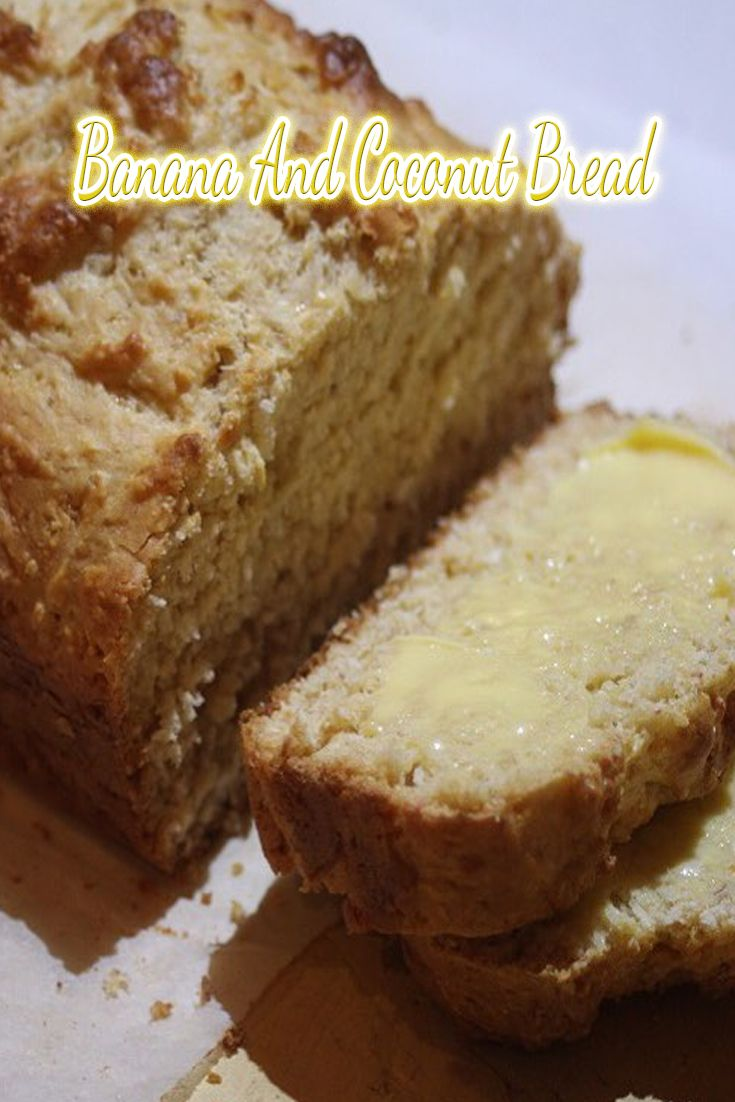 When it is banana season we seem to always have a few old bananas lying around. So, in an attempt to not waste them I have come up with this Banana and Coconut Bread.