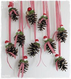 """Anita von Grinsestern hat uns im letzten Jahr ein Tutorial für eine """"kleine Weihnachtsdeko mit Kiefernzapfen gezeigt. Das fand ich so toll,..."""