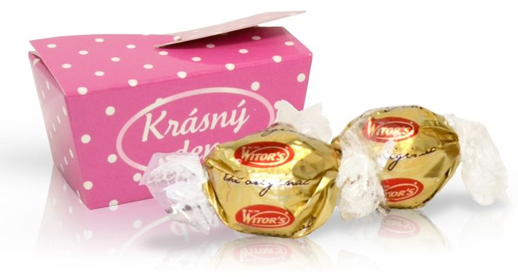 Výběr čokoládových pralinek - růžová s puntíky 32 g
