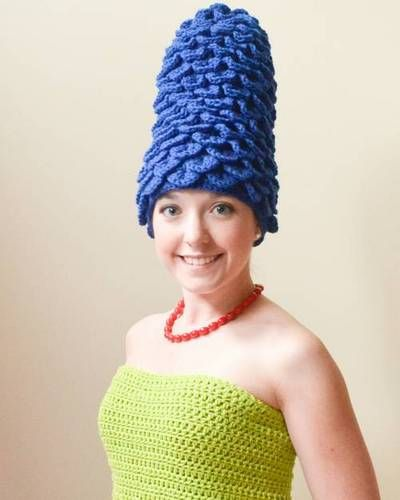 Marge Simpson Crocheted Costume (Homer too!) - CRAFTSTER CRAFT CHALLENGES