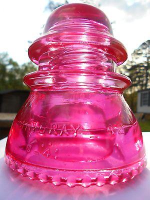 Antique Deep Pink Glass Insulator --- Hemingray - 42 CD # 154 !!!