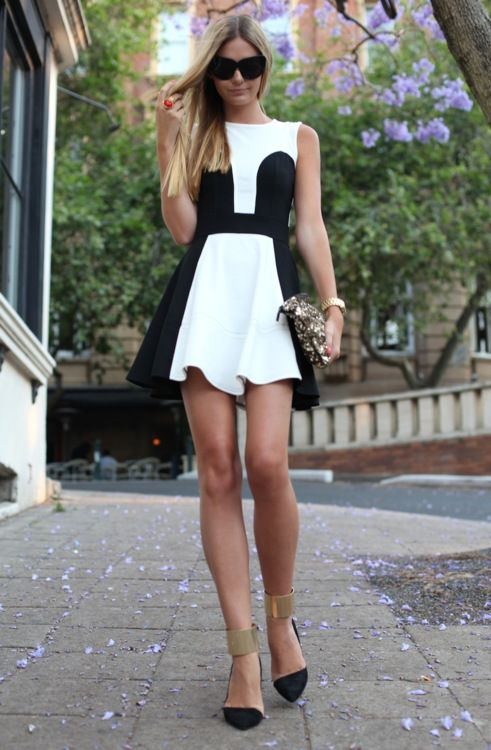 monochromatic color dress