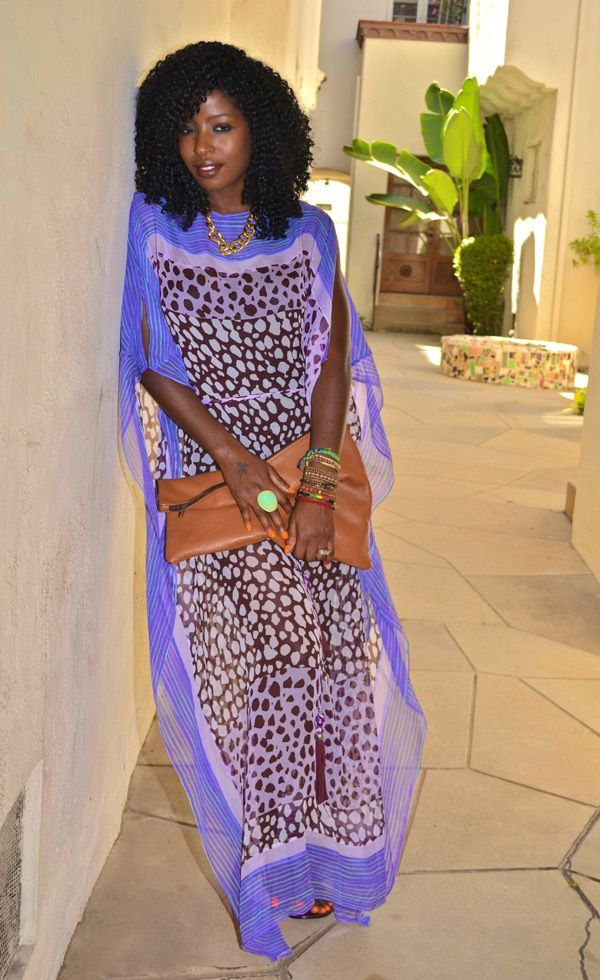 Printed caftans are a must-have  for summer!
