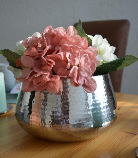 Tchibo Wohnen Mode Mit Punkten Silberne Vase Vase Dekorieren