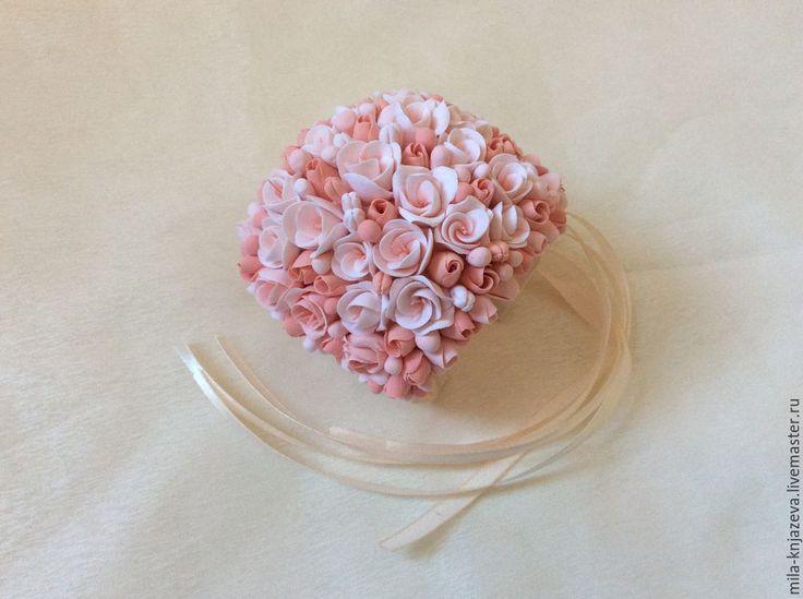 Купить браслет для подружек невесты из полимерной глины - цветы из полимерной глины, цветы ручной работы