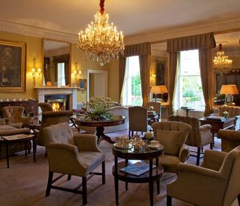 Posh sitting rooms at the Merrion in Dublin