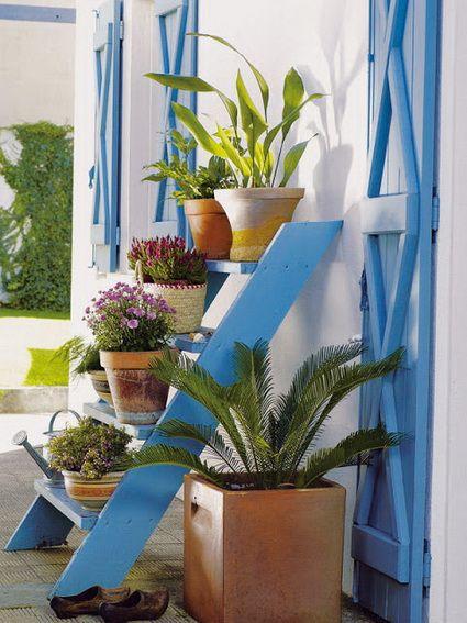 Ideas para decorar con escaleras de mano