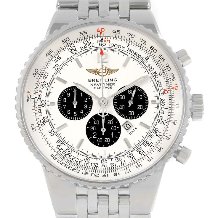 15073 Breitling Navitimer Heritage Silver Dial Steel Mens Watch A35350 SwissWatchExpo