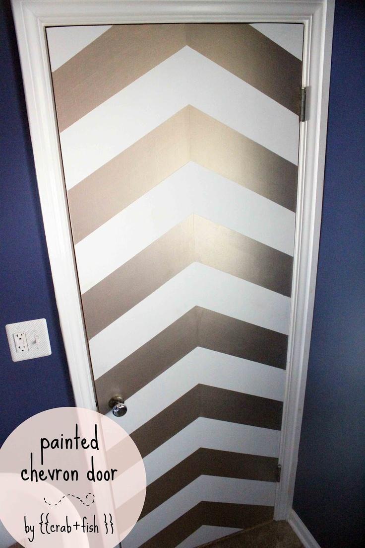 painted chevron door
