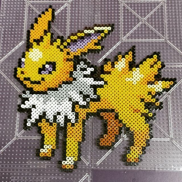 Jolteon - Pokemon hama beads by giulia.ryuko