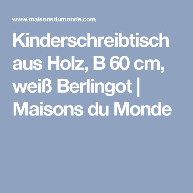 Kinderschreibtisch aus Holz, B 60cm, weiß Berlingot   Maisons du Monde