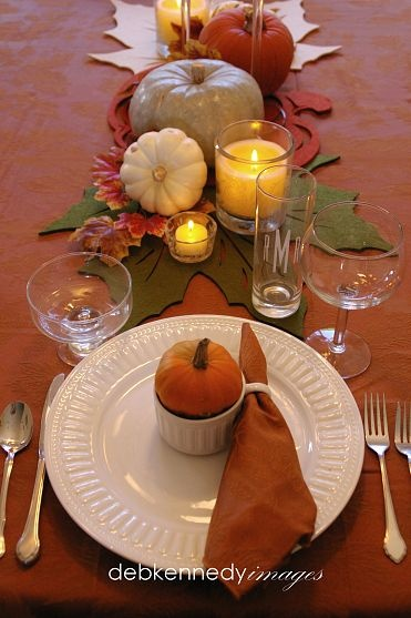 Thanksgiving tablescape ~ so colorful!