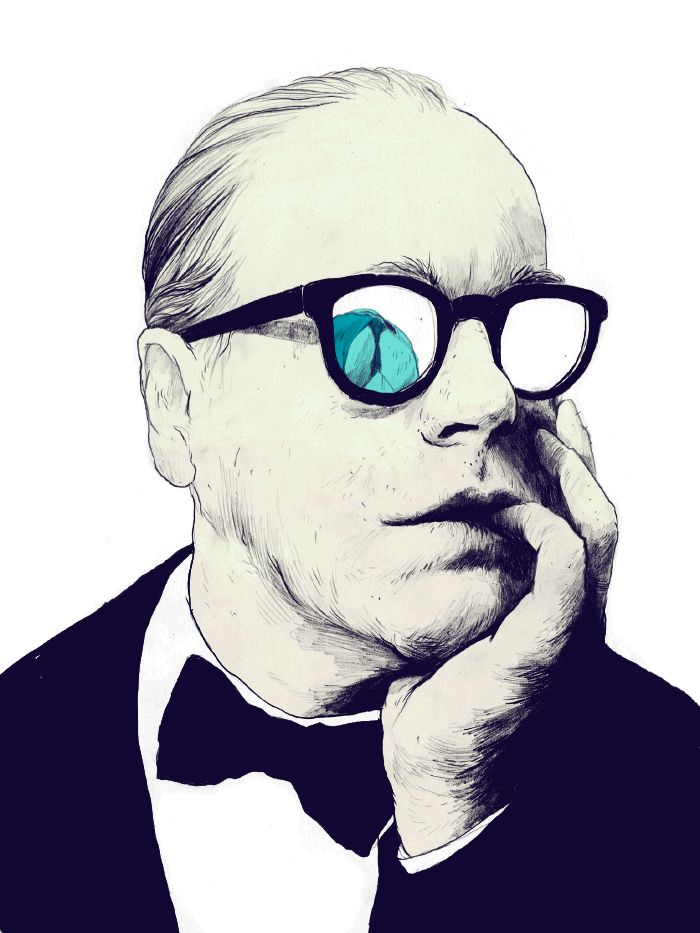Philipp Seymour Hoffman animated illustration for The New Republic's Ipad version.
