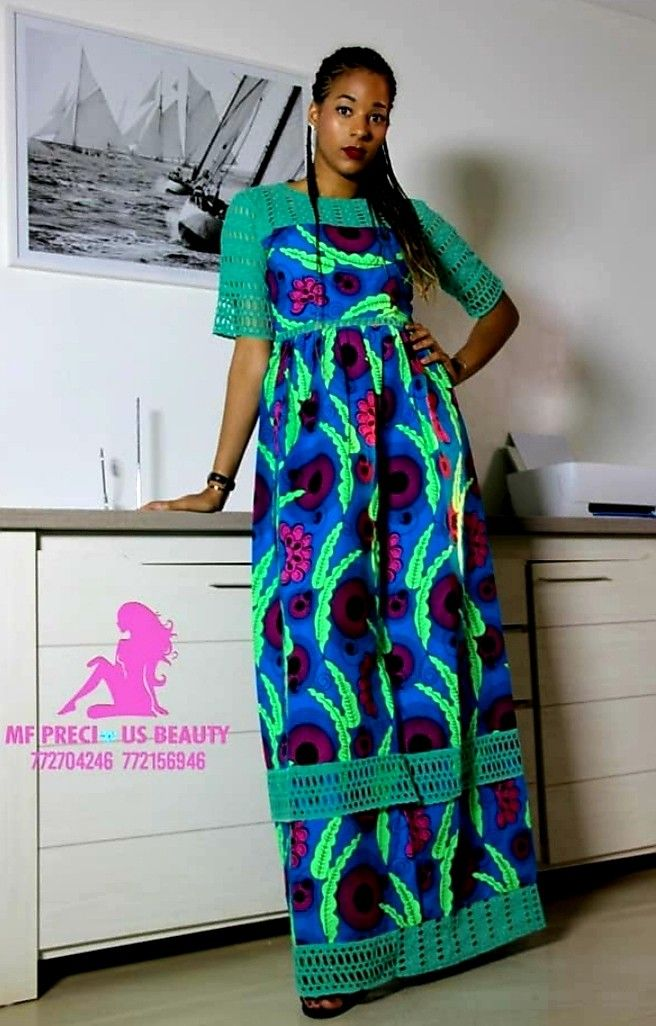 Pin On Robe En Pagne Africain