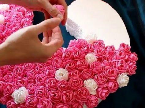 """❤ КАК СДЕЛАТЬ ЦВЕТЫ ИЗ САЛФЕТОК. DIY.Объемная цифра """"2"""" из цветов (салфеток) на день рождения. МК - YouTube"""