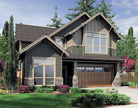 Plan 6993am charming bungalow for a narrow lot house for Narrow bungalow house plans