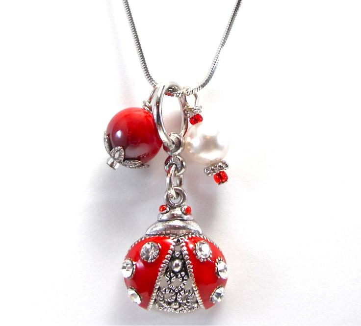 Silver Ladybug Necklace