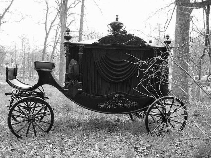 Funeral Carriage...CHECK OUT THE CURTAINS