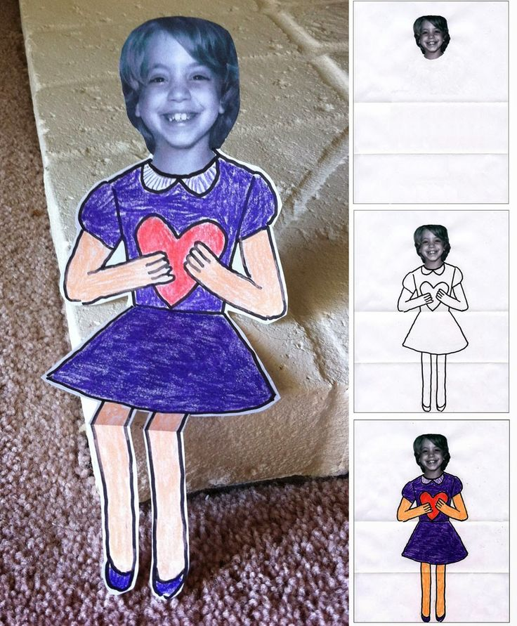 Mini Me Custom Valentines. A b/w headshot and paper and crayons are all you need to make this little mini me card. #Valentines