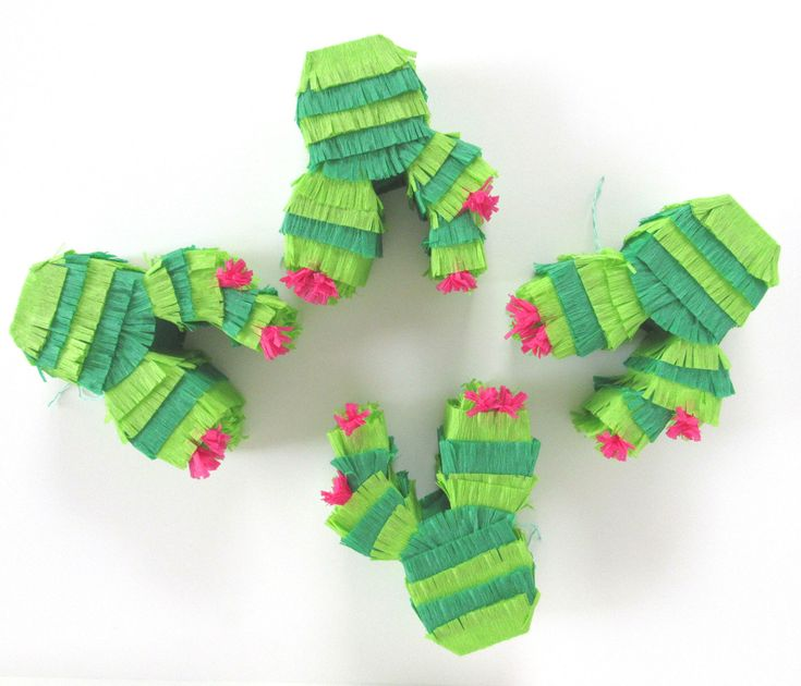 Cactus Mini Pinata, Party Favors for Fiesta Decorations, Cinco de Mayo, Wedding, Showers or Birthdays Set of 4 by CactusPears on Etsy https://www.etsy.com/listing/289943793/cactus-mini-pinata-party-favors-for