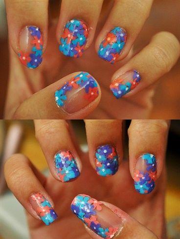 Petals French Manicure by sammicyc - Nail Art Gallery nailartgallery.nailsmag.com by Nails Magazine www.nailsmag.com #nailart