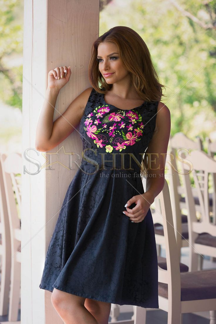 StarShinerS Embroidered Miraculous Black Dress