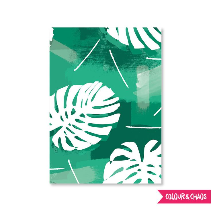 Summer Lovin' A6 Greeting Card (Green/Palms)