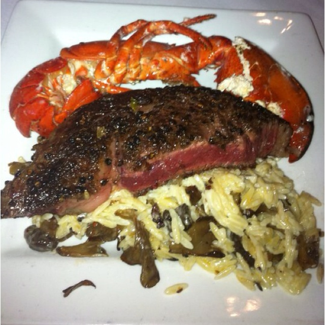Kobe Steak and Lobster with White Truffle Mac & Cheese @ Lonesome Dove Western Bistro, Fort Worth Texas