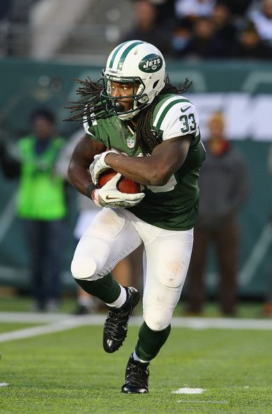 Chris Ivory #33 of the New York Jets runs with the ball during their game at MetLife Stadium on November 3, 2013 in East Rutherford, New Jer...