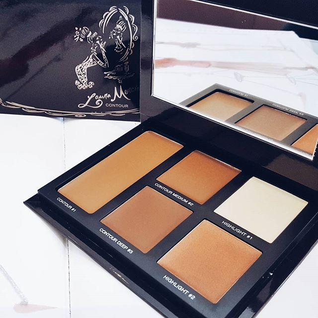 Eeek! #lauramercier #contour pallete hitting Australian shores soon! I literally gasped when I dipped my fingers to swatch the shades. It's so incredibly creamy like melted chocolate! It's going to blend like a dream! Only $69!