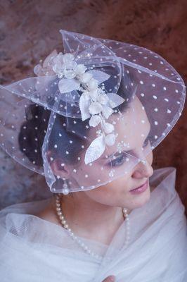 Fascynator, stroik ślubny, toczek slubny, Bridal fascynator