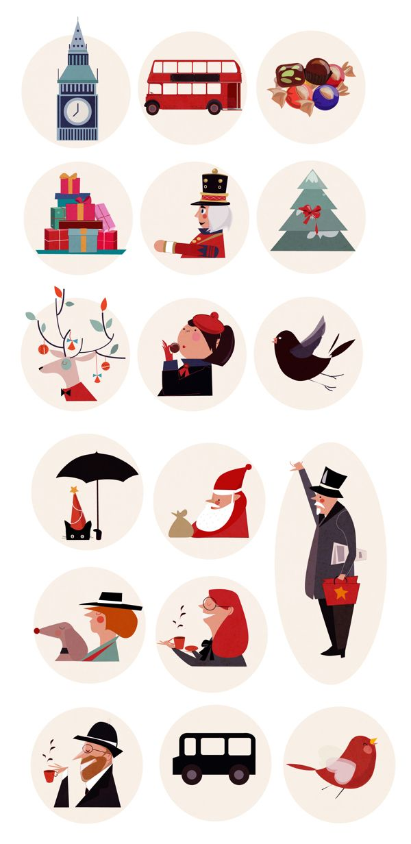 2014 /happy new year by SİBEL AÇIKALIN AKGÜN, via Behance