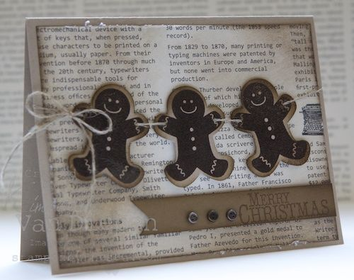 Little Gingerbread Men | StampinByTheSea.comGingerbreadmen, Christmas Cardsidea, Men Cards, Gingerbread Garlands, Christmas Cards Ideas, Scentsational Seasons, Paper Crafts, Gingerbread But, Christmas Gingerbread