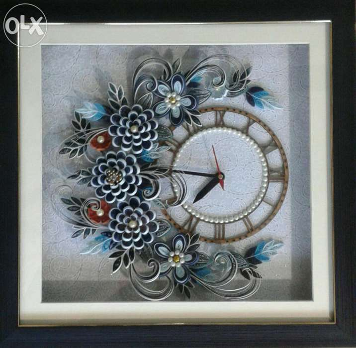 Archive Paper quilling wall clock Nashik